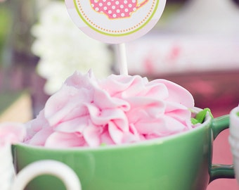 DIY Printable Party Circles - Garden Tea Party