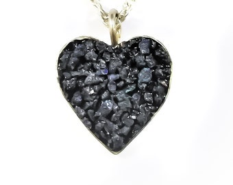 Heart Blue Azurite necklace