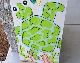 "12""x 24"" Kids Sea Creature Wall Art - Sea Turtle"