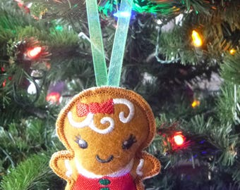 Gingerbread Girl Christmas Ornament