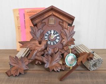 Unused Vintage Cuckoo Clock- Hubert Herr Black Forest Cuckoo Clock