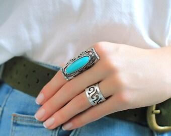 Boho Rings Bohemian Rings Silvered Rings
