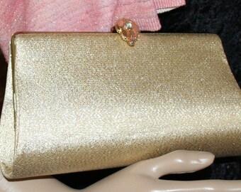 Vintage Purse Clutch Gold Lame'