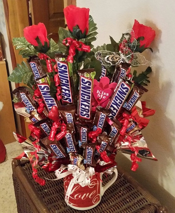 Snickers Valentines Candy Bouquet Valentine Candy Bouquet