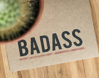 Badass Card - Recycled Congratulations Greeting Card