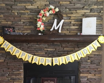 You Are My Sunshine Birthday Banner Happy First Birthday Happy Second Birthday Sun Sunshine Party Decor Centerpiece