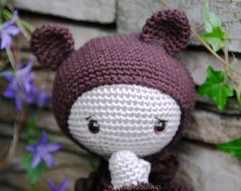 Amigurumi, Lalylala, Bear, crochet, doll