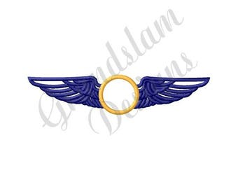 Navy Air Force Wings - Machine Embroidery Design