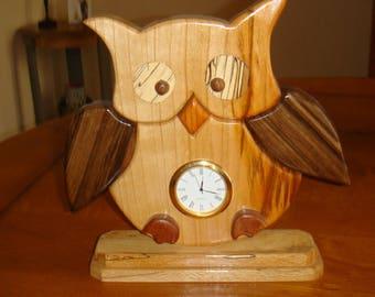 pendulum intarsia OWL wood