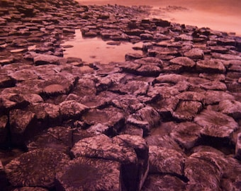Giants Causeway, photography, wall art, infrared, Northern Ireland, nature