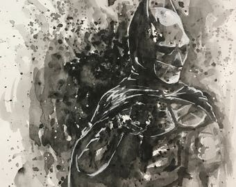 Batman emerging from ink