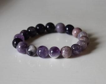 Amethyst Bracelet, Crown Chakra Bracelet, Lepidolite Bracelet, Spiritual Gift, Spiritual Jewelry, Spiritual Bracelets, lepidolite jewellery
