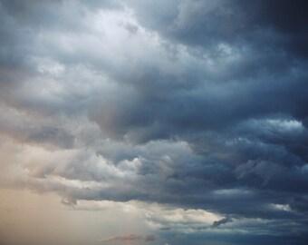 Storm Clouds - Fine Art Photograph, sky, nature photography, sunset, wall art, room decor
