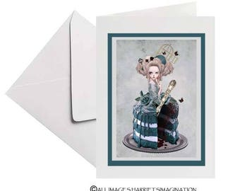 Marie Antoinette | Handmade Greeting Card | Baroque Style | Fine Art | Blank Card | Personal Message  | Marie Antoinette Greeting Card