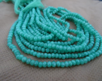 Amazonite Faceted Roundelle Beads 2-3mm Full 13 inch strands AAA Quality