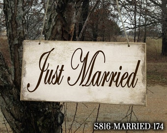 Just Married Sign, Just Married Custom Wedding Sign, Wedding Sign, Ring Bearer Sign, Wedding Sign, Wedding Just Married