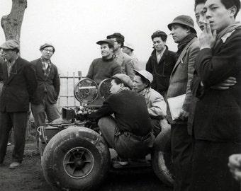 vintage photo 1957 Japan Akira Kurosawa Directing Film on Set