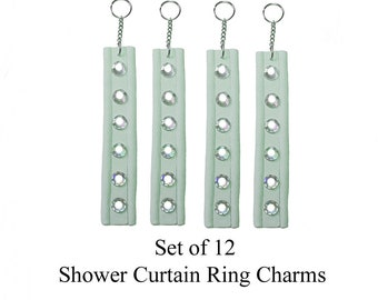 Decorative Shower Curtain Ring Charms... Gem Strips
