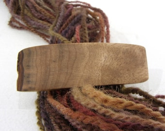 Tiny Hair Barrette, Myrtlewood, lifetime guarantee, NO GLUE, wooden hair accessory, french hair clip, natural hair jewelry, wearable art,