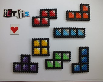 Tetris Style Magnets - Hama / Perler beads