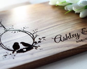 Newly Engaged Gift Personalized Engagement Gifts for Couple Personalized Cutting Board Engraved Wedding Gift for Her Anniversary gift ideas
