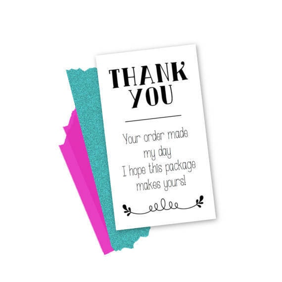Thank You For Your Order >> Instant Download Small Business Thank You Your Order Made My