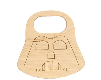 Star Wars Baby Teether - Darth Vader Toy - Star Wars Gift - Geek Baby - Star Wars Party - Wooden Teether