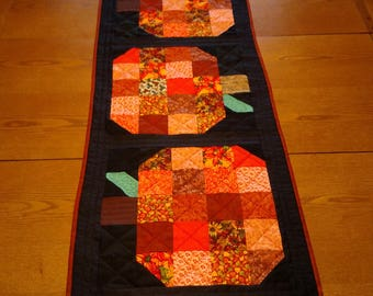Three Pumpkin Table Runner