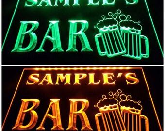 Personalized custom name BAR Mug Beer led neon sign home bar