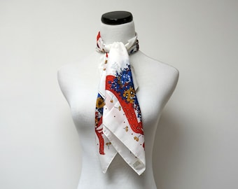 "BIG FAN . Glentex square scarf . 31"" x 31"" . made in Italy"