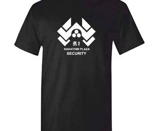 NAKATOMI PLAZA SECURITY - Mens Black Die Hard Tshirt
