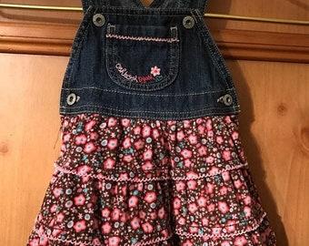 SALE SALE SALE Oshkosh vestbak sz 12 month overall tier jean/ corduroy ruffle dress