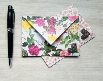 letter writing set, spring stationery set, letter writing paper, writing paper set, envelopes, stationary, gift for mom, floral, tiny flower