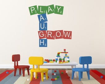 Playroom Wall Decal - Childrens Wall Decal - Vinyl Wall Decal - Nursery Wall Decal - Vinyl Lettering - Playroom Decor
