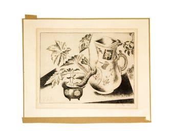 Frances Foy Original Drypoint Engraving