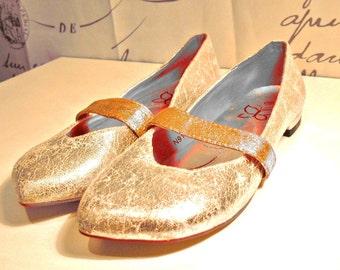 Shiny Aged Silver NINE WORK Women's Mary Janes Size 6,5us/4uk/37eu