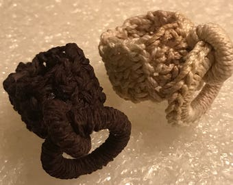 My Affinity Wearable Art Crocheted Loop Rings