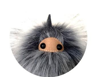 Ninja Puff Keychain Faux Fur Monster Bag Charm Ninja - Interactive Empowerment Toy (Keychain or Bag Charm Option)