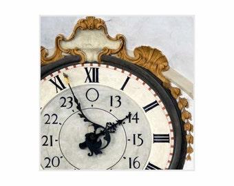 Clock Print, Office wall decor, Living Room art, Fine Art print, Classic Print,  Milan Italy Art, Giclée print