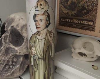 St Andy Warhol Prayer Candle