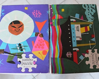Two vintage jigsaw puzzles by Jumbo
