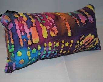 Rainbow Tie Dye Batik Pipe Bag