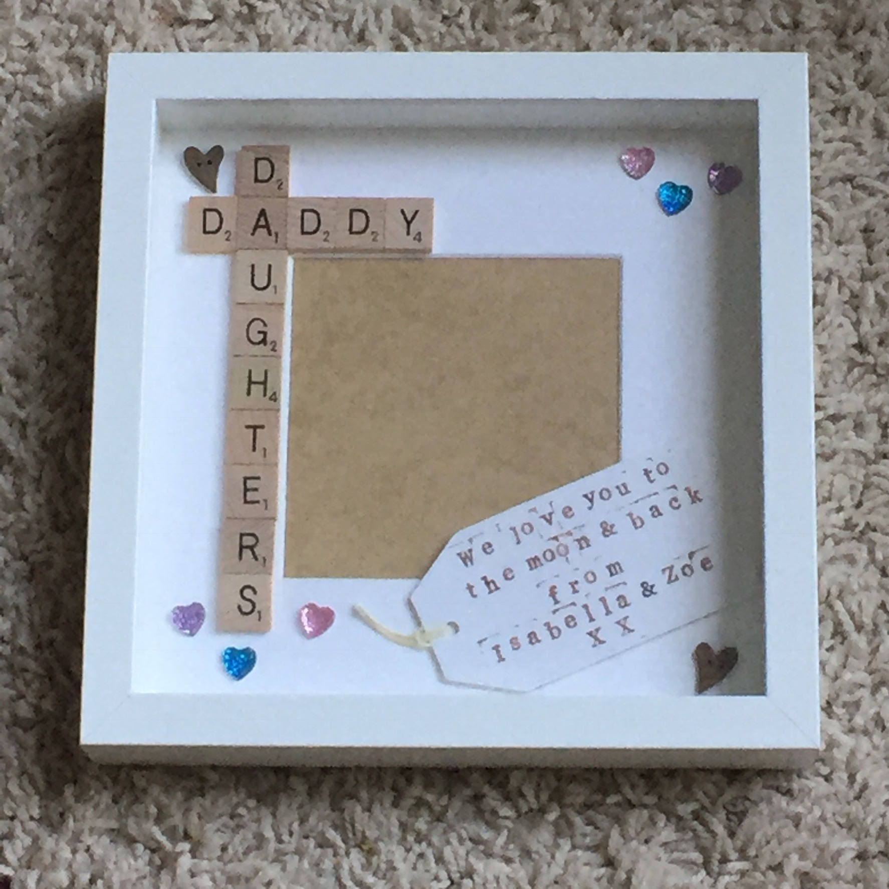 Daddy Daughter Frame Personalised Scrabble Frame Scrabble