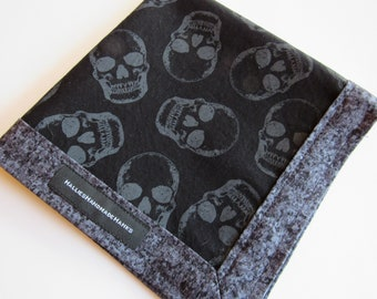 Black and Gray Skull EDC Hank Every Day Carry Hank Men's Handkerchief Women's Handkerchief