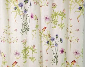 Linen Shower curtain Covington Floral Shower curtain custom Shower curtain 72x 84 72 x 96 long shower curtain custom shower curtain