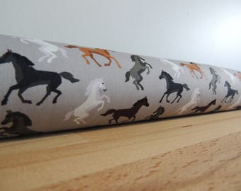 Draft Stopper. Nursery decor. Horses. room decor. Door or window snake. Draught excluder. House and home accessory. wild horses