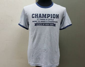 Sale Vintage Champion Spell Out Ringspun Indie Tshirt