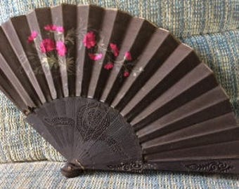 French Mourning Eventail Fan
