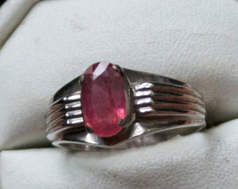 ON SALE Genuine Ruby Silver Ring