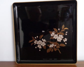 Otagiri Lacquer Tray, Vintage Serving, Home Decor. Vintage
